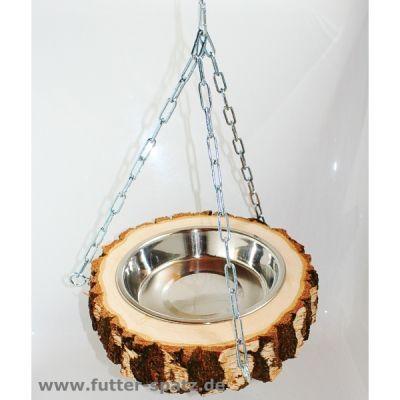 Futter- und Wasserschale Baumstamm