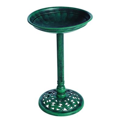 Kunststoff-Vogelbad, stehend grün