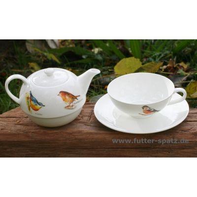 tea for one vogelchor aus hochwertigem porzellan vg550 der futter spatz. Black Bedroom Furniture Sets. Home Design Ideas