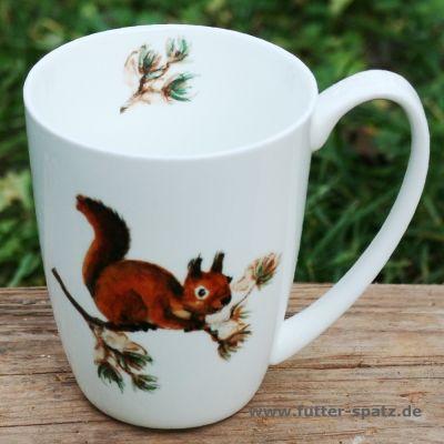 Tasse Eichhörnchen aus hochwertigem Porzellan