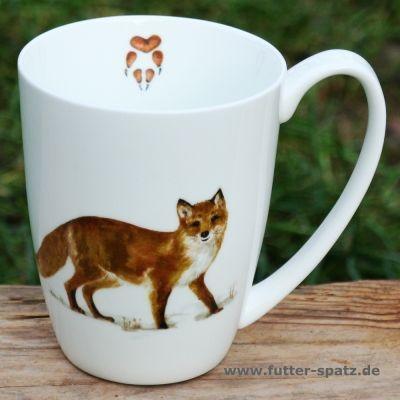 Tasse Fuchs aus hochwertigem Porzellan