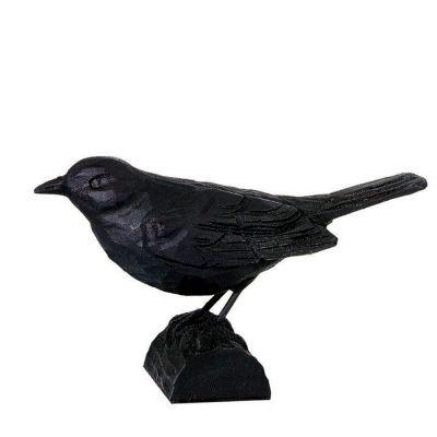 Gusseiserne Skulptur Amsel