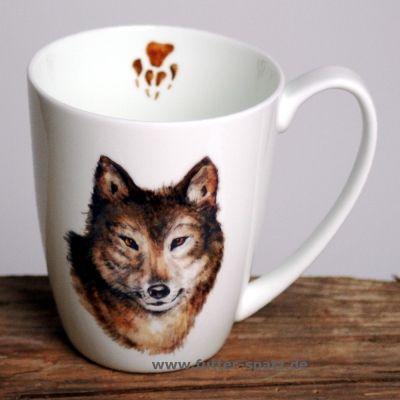 Tasse Wolf aus hochwertigem Porzellan