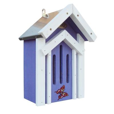 Schmetterlingskasten blau mit Zinkdach