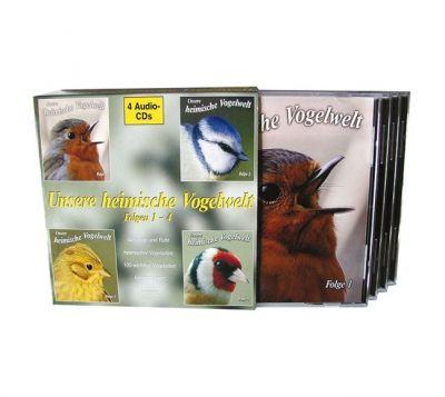 Unsere heimische Vogelwelt; 4 Audio-CDs