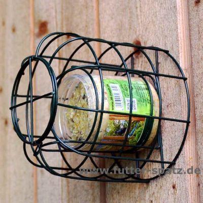 Erdnussbutterhalter mit Schutzkorb