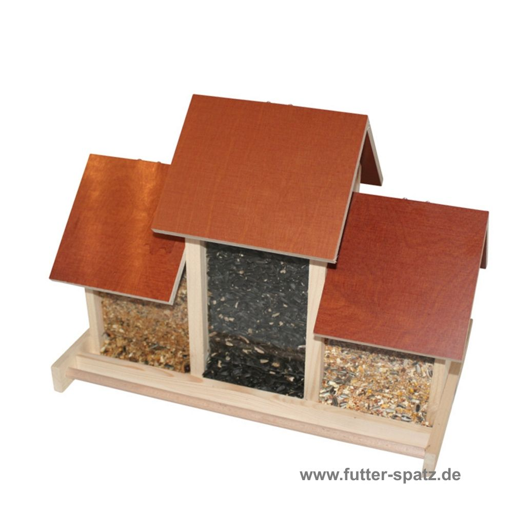 Silo Futterhaus Mit 3fach Silo Klein Ww106 Der Futter Spatz