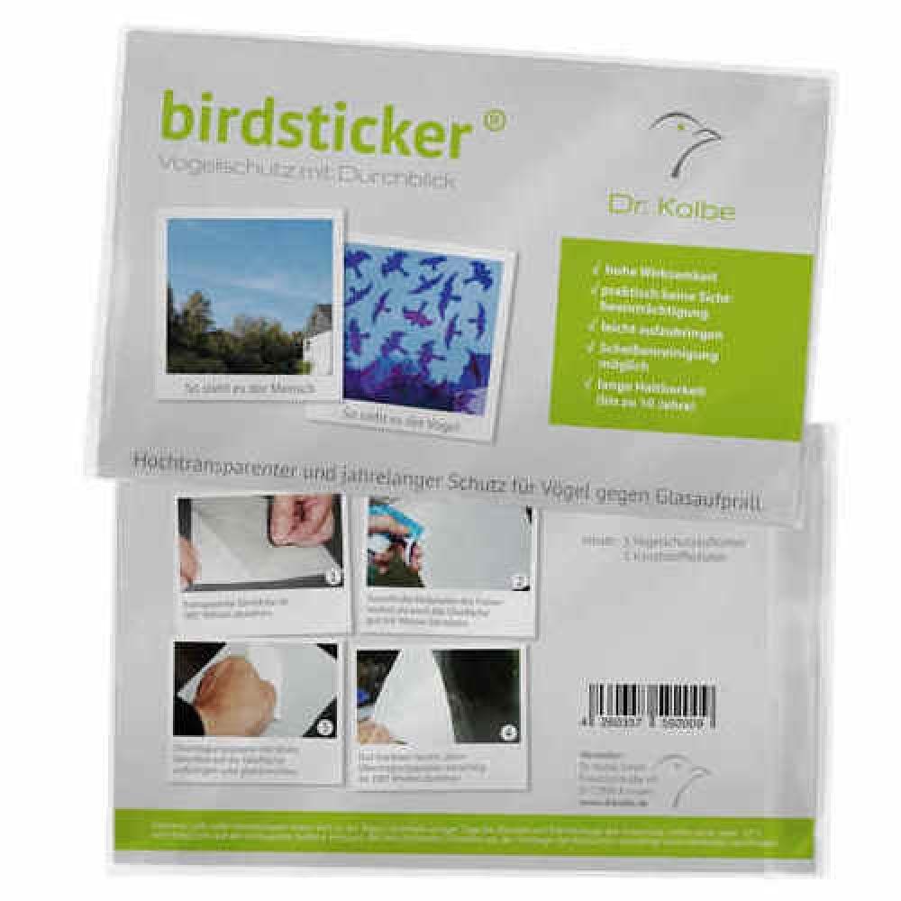 Birdsticker Unsichtbare Vogelschutzaufkleber 1 Set 5 Sticker