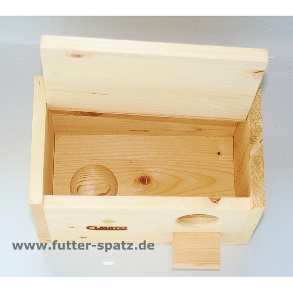 nistkasten f r wellensittiche wellensittichkobel fichtenholz vh251 der futter spatz. Black Bedroom Furniture Sets. Home Design Ideas