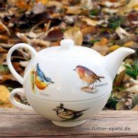 TEA FOR ONE Vogelchor aus hochwertigem Porzellan